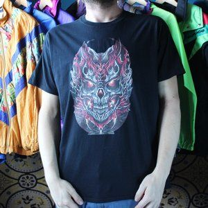 Flamed Demon Soul Graphic T-Shirt